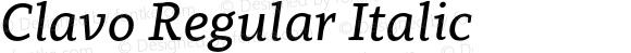 Clavo Regular Italic