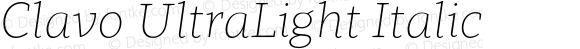 Clavo UltraLight Italic