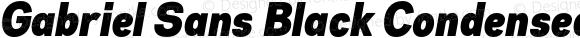 Gabriel Sans Black Condensed Italic