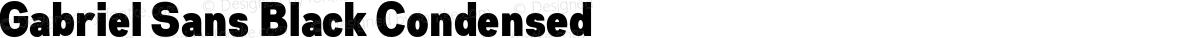 Gabriel Sans Black Condensed