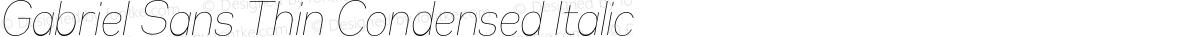 Gabriel Sans Thin Condensed Italic