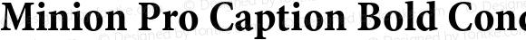Minion Pro Caption Bold Condensed