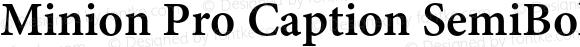 Minion Pro Caption SemiBold