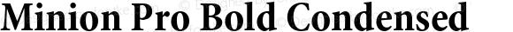 Minion Pro Bold Condensed