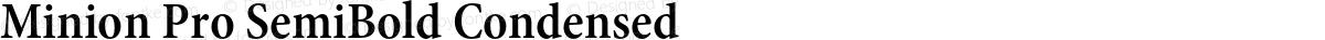 Minion Pro SemiBold Condensed
