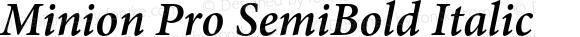 Minion Pro SemiBold Italic