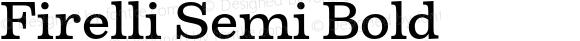 Firelli Semi Bold