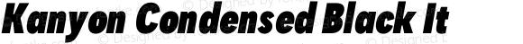 Kanyon Condensed Black It