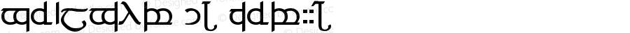 Tengwar 04 ver.#4 Version 1.0 Wed Jul 27 01:17