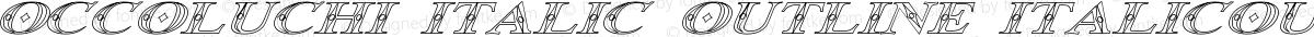 Occoluchi Italic Outline ItalicOutline