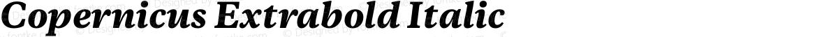 Copernicus Extrabold Italic
