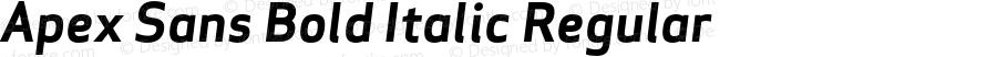 Apex Sans Bold Italic Regular Version 6.000 2007 revised OpenType release