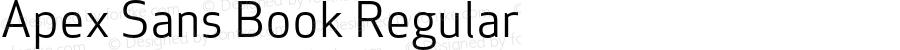 Apex Sans Book Regular Version 6.000 2007 revised OpenType release