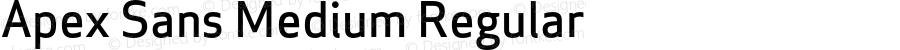 Apex Sans Medium Regular Version 6.000 2007 revised OpenType release
