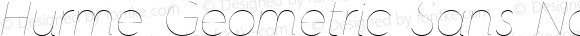 Hurme Geometric Sans No Four Hairline Italic