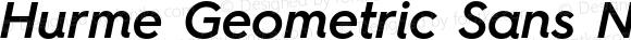 Hurme Geometric Sans No Four SemiBold Italic