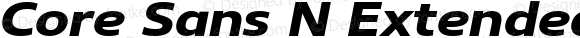 Core Sans N Extended 73 ExtraBold Italic