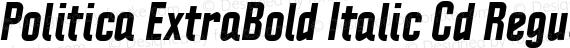 Politica ExtraBold Italic Cd Regular preview image