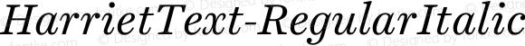 HarrietText-RegularItalic Regular Italic