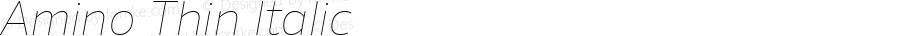 Amino Thin Italic Version 2.01 : 2013;com.myfonts.cadson-demak.amino.thin-italic.wfkit2.41K6