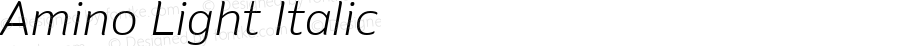 Amino Light Italic Version 2.01 : 2013;com.myfonts.cadson-demak.amino.light-italic.wfkit2.41K2