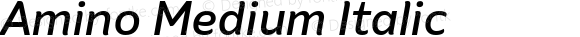Amino Medium Italic Version 2.01 : 2013;com.myfonts.cadson-demak.amino.medium-italic.wfkit2.41K4
