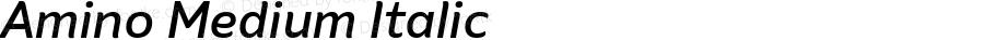 Amino Medium Italic Version 2.01 : 2013;com.myfonts.cadson-demak.amino.medium-italic.wfkit2.41K4