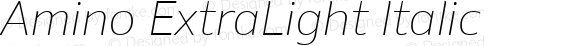 Amino ExtraLight Italic Version 2.01 : 2013;com.myfonts.cadson-demak.amino.extra-light-italic.wfkit2.41K1