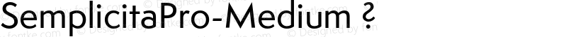 SemplicitaPro-Medium ? Preview Image