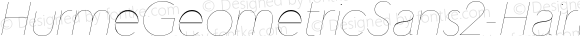 HurmeGeometricSans2-HairlineObl Hairline Italic
