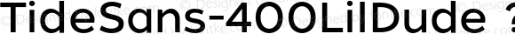 TideSans-400LilDude ? Version 1.000;PS 005.000;hotconv 1.0.70;makeotf.lib2.5.58329;com.myfonts.kyle-wayne-benson.tide-sans.lil-dude.wfkit2.44Ue