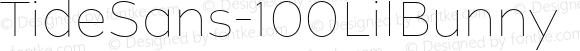 TideSans-100LilBunny ? Version 1.000;PS 005.000;hotconv 1.0.70;makeotf.lib2.5.58329;com.myfonts.kyle-wayne-benson.tide-sans.lil-bunny.wfkit2.44Uf