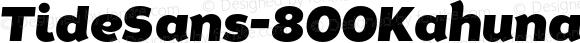 TideSans-800KahunaItalic ? Version 1.000;PS 005.000;hotconv 1.0.70;makeotf.lib2.5.58329;com.myfonts.kyle-wayne-benson.tide-sans.kahuna-italic.wfkit2.44Uu