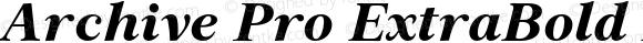Archive Pro ExtraBold Italic