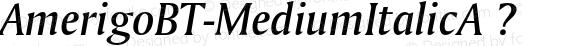 AmerigoBT-MediumItalicA ? Version 1.01 emb4-OT;com.myfonts.bitstream.amerigo.medium-italic.wfkit2.2fxa