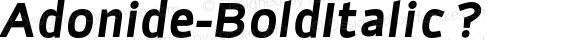 Adonide-BoldItalic ?
