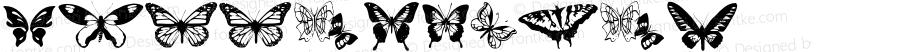 Butterflies ? 002.000;com.myfonts.typadelic.butterflies.butterflies.wfkit2.XQa