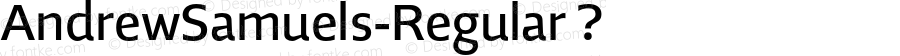 AndrewSamuels-Regular ? Version 2.003;com.myfonts.samuelstype.andrew-samuels.regular.wfkit2.32RW