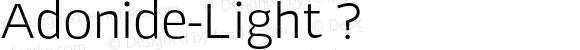 Adonide-Light ?