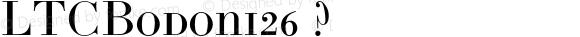 LTCBodoni26 ? Version 2.000 2004 initial release;com.myfonts.lanston.ltc-bodoni-26.regular.wfkit2.2ngt
