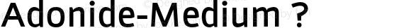 Adonide-Medium ?