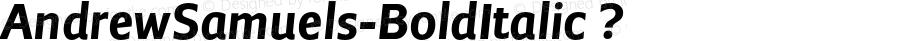 AndrewSamuels-BoldItalic ? Version 2.003;com.myfonts.samuelstype.andrew-samuels.bold-italic.wfkit2.32S4