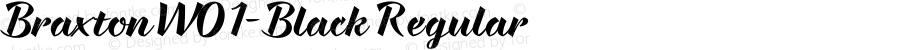 BraxtonW01-Black Regular Version 1.00