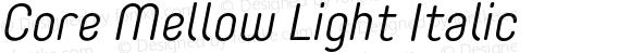 CoreMellow-LightItalic