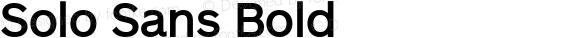 Solo Sans Bold preview image