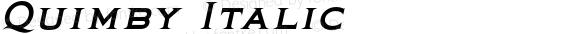 Quimby Italic