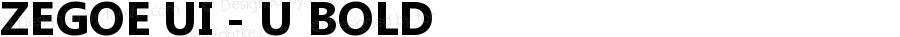 Zegoe UI - U Bold Version 5.00