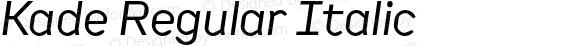 Kade Regular Italic