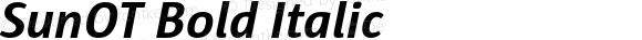 SunOT Bold Italic Version 4.001 2005