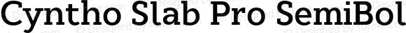 Cyntho Slab Pro SemiBold SemiBold